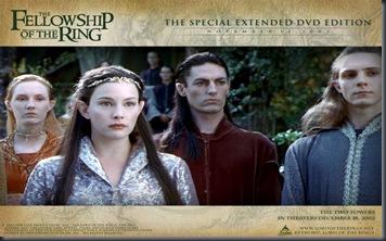 arwen con los elfos(el señor de los anillos)