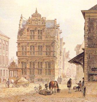 Goudkantoor in de oude tijd