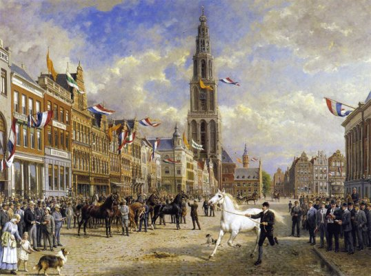 paardenkeuring Groningen, Grote Markt 28 aug. 1920